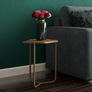 Karl Side Table (Gold, Medium Size) by Urban Ladder