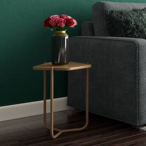 Karl Side Table (Gold, Small Size) by Urban Ladder