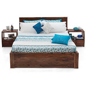 Valencia Storage Essential Bedroom Set (Teak Finish) (King Bed Size)