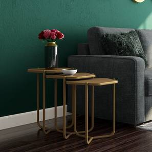 Karl Side Table Set (Gold) by Urban Ladder