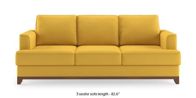 Halden Sofa (Cornsilk Yellow) (1-seater Custom Set - Sofas, None Standard Set - Sofas, Fabric Sofa Material, Regular Sofa Size, Corn Silk Yellow, Regular Sofa Type)