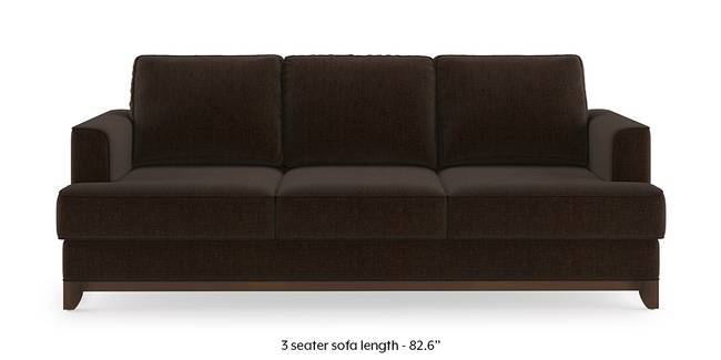 Halden Sofa (Dark Earth Brown) (1-seater Custom Set - Sofas, None Standard Set - Sofas, Dark Earth, Fabric Sofa Material, Regular Sofa Size, Regular Sofa Type)