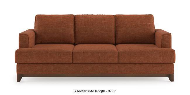Halden Sofa (Lava Rust) (1-seater Custom Set - Sofas, None Standard Set - Sofas, Lava, Fabric Sofa Material, Regular Sofa Size, Regular Sofa Type)