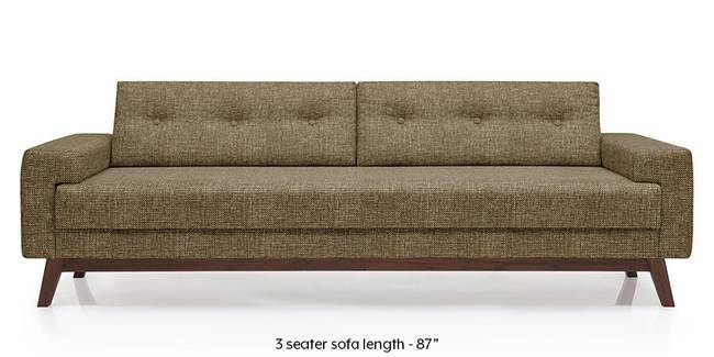 Venetti Sofa (Dune Brown) (Dune, Fabric Sofa Material, Regular Sofa Size, Regular Sofa Type)