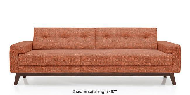 Venetti Sofa (Lava Rust) (Lava, Fabric Sofa Material, Regular Sofa Size, Regular Sofa Type)