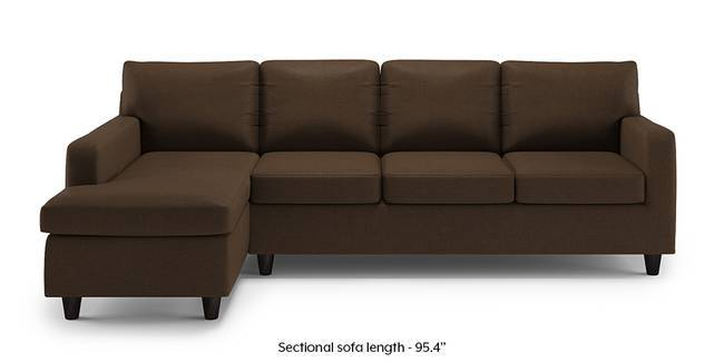 Walton Compact Sectional Sofa (Desert Brown) (None Custom Set   Sofas, Right