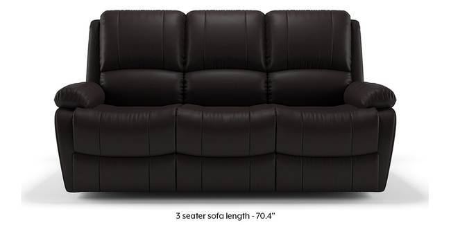 Tribbiani Recliner Sofa Set (Chocolate Brown Leatherette) (None Custom Set    Sofas,