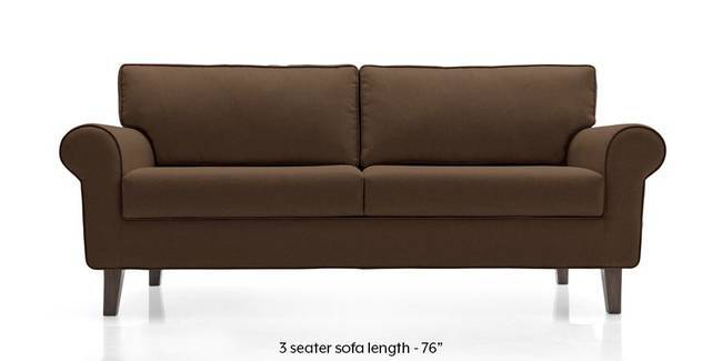 Oxford Sofa (Mocha Brown) (Mocha, Fabric Sofa Material, Regular Sofa Size, Regular Sofa Type)