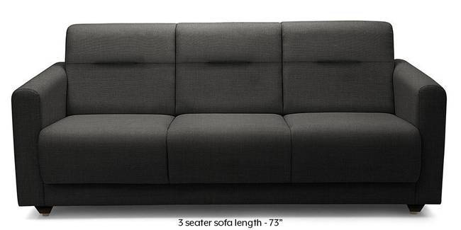 Lloyd Sofa (Steel Grey) (Steel, Fabric Sofa Material, Compact Sofa Size, Regular Sofa Type)