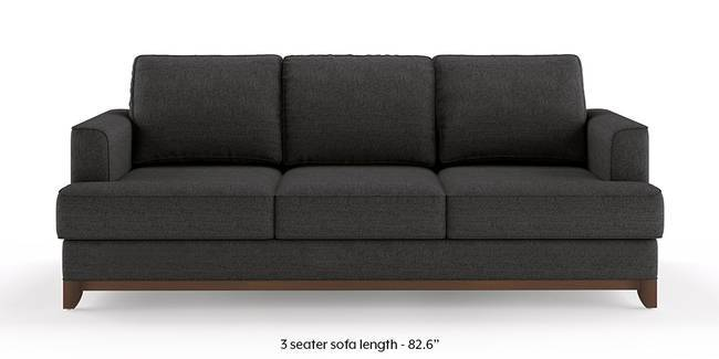 Halden Sofa (Steel Grey) (1-seater Custom Set - Sofas, None Standard Set - Sofas, Steel, Fabric Sofa Material, Regular Sofa Size, Regular Sofa Type)