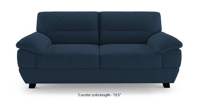 Alora Sofa (Cobalt) (3-seater Custom Set - Sofas, None Standard Set - Sofas, Cobalt, Fabric Sofa Material, Regular Sofa Size, Regular Sofa Type)