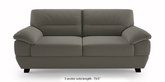 Alora Sofa (Grey) (Grey, 3-seater Custom Set - Sofas, None Standard Set - Sofas, Fabric Sofa Material, Regular Sofa Size, Regular Sofa Type)