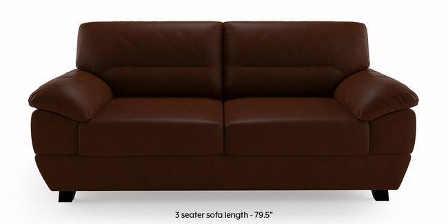 Alora Leatherette Sofa (Chocolate Brown) (3-seater Custom Set - Sofas, None Standard Set - Sofas, Chocolate Brown, Leatherette Sofa Material, Regular Sofa Size, Regular Sofa Type)