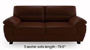 Alora Leatherette Sofa (Chocolate Brown)