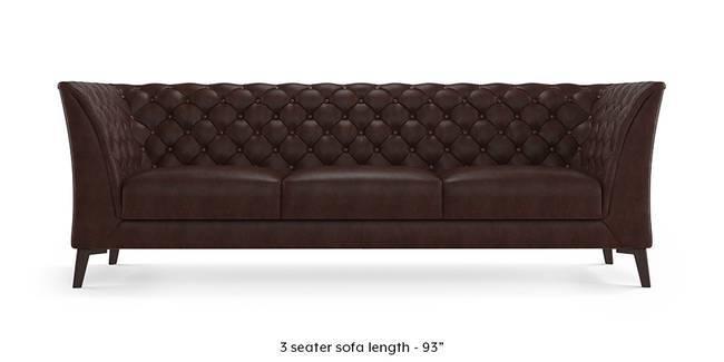 Weston Half Leather Sofa (Chocolate) (Chocolate, 1-seater Custom Set - Sofas, None Standard Set - Sofas, Regular Sofa Size, Regular Sofa Type, Leather Sofa Material)
