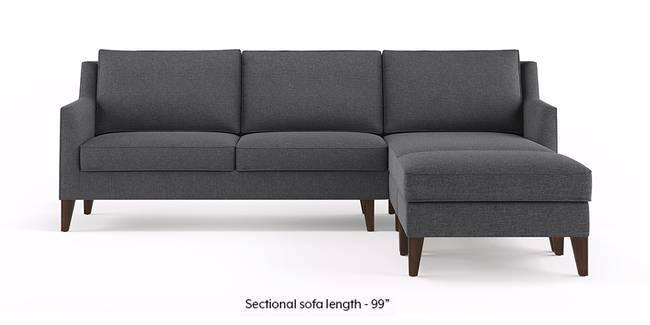 Greenwich Sectional Sofa (Steel Grey) (Ottoman Custom Set - Sofas, None Standard Set - Sofas, Steel, Fabric Sofa Material, Regular Sofa Size, Regular Sofa Type)