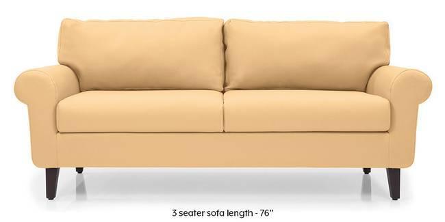 Oxford Leatherette Sofa (Butterscotch) (Butterscotch, Leatherette Sofa Material, Regular Sofa Size, Regular Sofa Type)