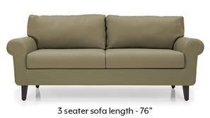 Oxford Leatherette Sofa (Cappuccino)