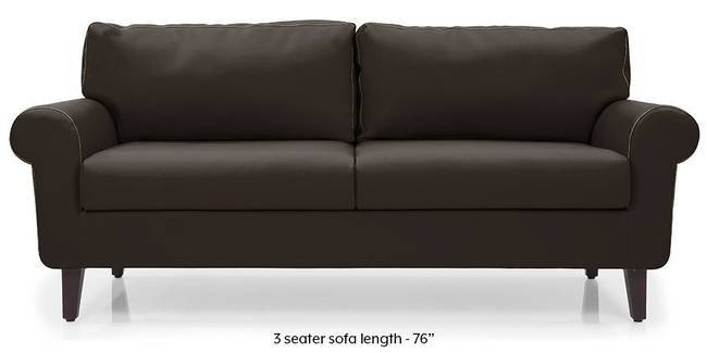 Oxford Leatherette Sofa (Chocolate) (Chocolate, Leatherette Sofa Material, Regular Sofa Size, Regular Sofa Type)