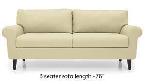 Oxford Leatherette Sofa (Cream)