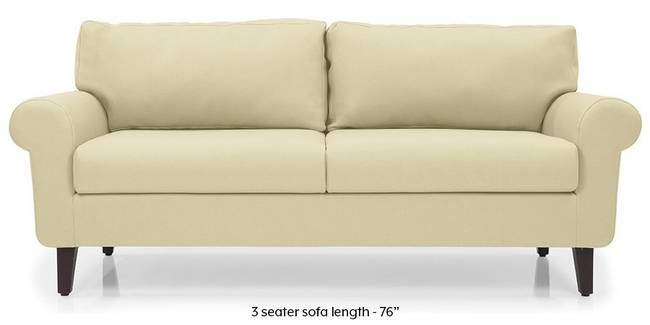 Oxford Leatherette Sofa (Cream) (Cream, Leatherette Sofa Material, Regular Sofa Size, Regular Sofa Type)