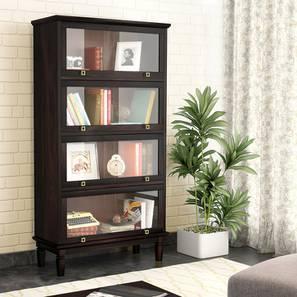 Malabar Barrister Bookshelf (Mahogany Finish) by Urban Ladder