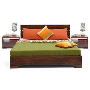 Ohio Essential Bedroom Set (Teak Finish, Queen Bed Size)