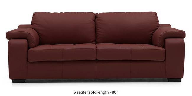 Trissino Sofa (Wine Italian Leather) (Regular Sofa Size, Regular Sofa Type,