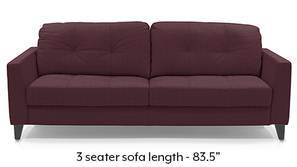 Franco Sofa (Wine Italian Leather)