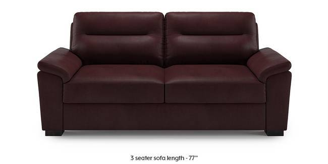 Adelaide Leatherette Sofa (Burgundy) (1-seater Custom Set - Sofas, None Standard Set - Sofas, Burgundy, Leatherette Sofa Material, Compact Sofa Size, Soft Cushion Type, Regular Sofa Type)