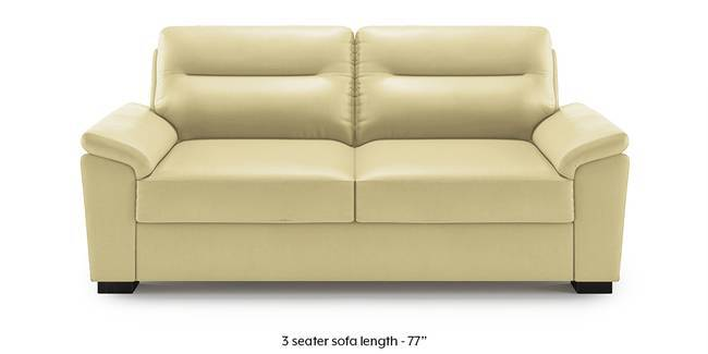 Adelaide Leatherette Sofa (Butterscotch) (1-seater Custom Set - Sofas, None Standard Set - Sofas, Butterscotch, Leatherette Sofa Material, Compact Sofa Size, Soft Cushion Type, Regular Sofa Type)