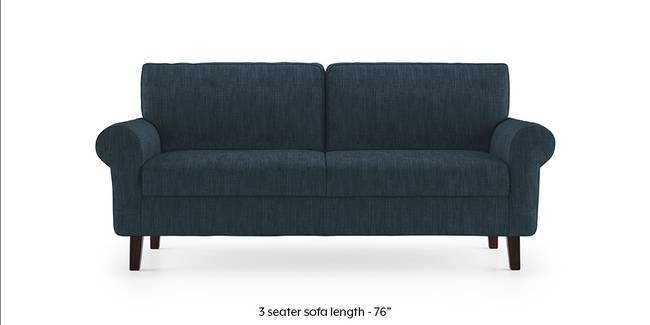 Oxford Sofa (Indigo Blue) (1-seater Custom Set - Sofas, None Standard Set - Sofas, Indigo Blue, Fabric Sofa Material, Regular Sofa Size, Regular Sofa Type)