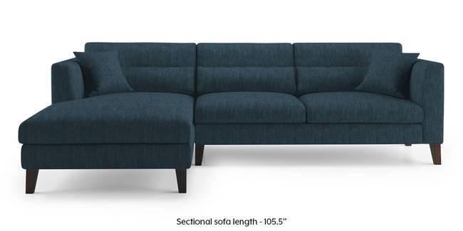 Lewis Sectional Sofa (Indigo Blue) (None Custom Set - Sofas, Right Aligned 3 seater + Chaise Standard Set - Sofas, Indigo Blue, Fabric Sofa Material, Regular Sofa Size, Regular Sofa Type)