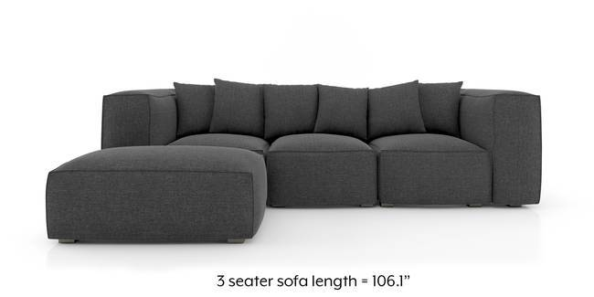 Chapman Modular Sofa (Steel Grey) (Ottoman Custom Set - Sofas, None Standard Set - Sofas, Steel, Fabric Sofa Material, Regular Sofa Size, Modular Sofa Type)