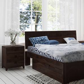 Magellan Bedside Table (Mahogany Finish) by Urban Ladder