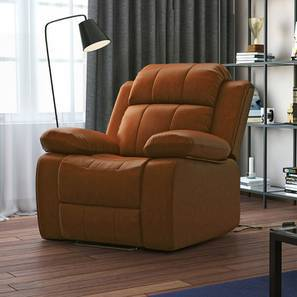 Robert Motorized Recliner (Tan Leatherette) by Urban Ladder