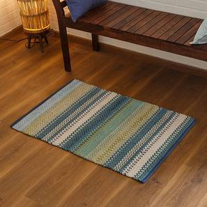 "Trebon Dhurrie (Blue, 24"" x 36"" Carpet Size) by Urban Ladder"