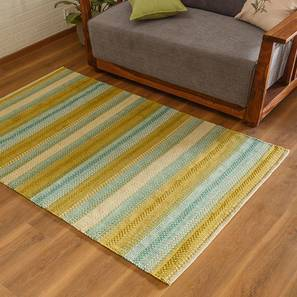 "Trebon Dhurrie (Green, 36"" x 60"" Carpet Size) by Urban Ladder"
