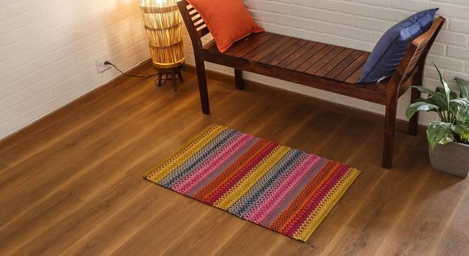 "Trebon Dhurrie (Raspberry, 24"" x 36"" Carpet Size) by Urban Ladder"