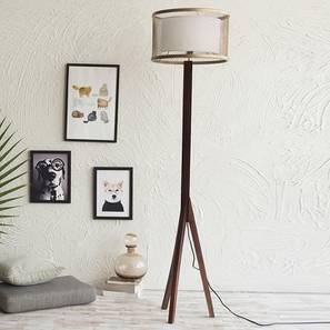Orlando Floor Lamp (Light Walnut Base Finish) by Urban Ladder