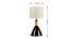 Miami Table Lamp (Light Walnut Base Finish) by Urban Ladder