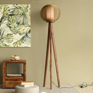 Winslow Floor Lamp (Light Walnut Base Finish) by Urban Ladder