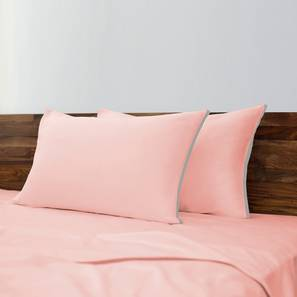 Serena 300 TC Bedsheet Set (Double Size, Shell Pink) by Urban Ladder