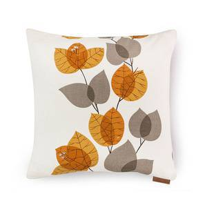 "Amoga Cushion Cover - Set Of 2 (16"" X 16"" Cushion Size, Ochre Evening Mist Pattern) by Urban Ladder"