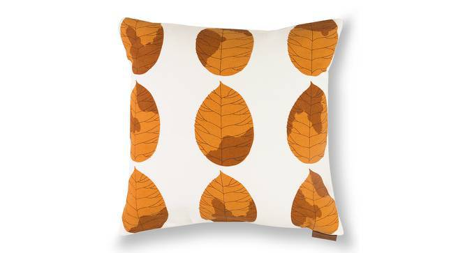 "Amoga Cushion Cover - Set Of 2 (16"" X 16"" Cushion Size, Ochre Sunburst Pattern) by Urban Ladder"
