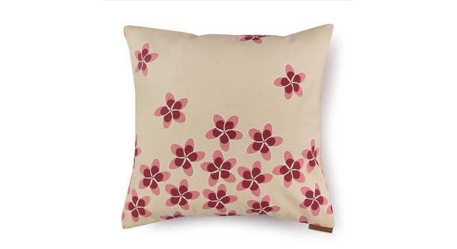 "Frangipani Cushion Cover - Set of 2 (16"" X 16"" Cushion Size, Blush Petal Bliss Pattern) by Urban Ladder"