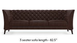 Weston Half Leather Sofa (Chocolate Italian Leather)