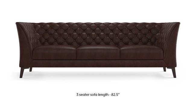Weston Half Leather Sofa Chocolate Italian 1 Seater Custom