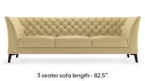 Weston Half Leather Sofa(Cream Italian Leather)