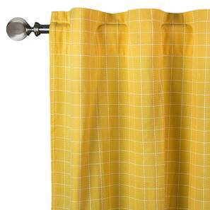 "Wesley Curtains - Set Of 2 (Yellow, 52""x84"" Curtain Size) by Urban Ladder"